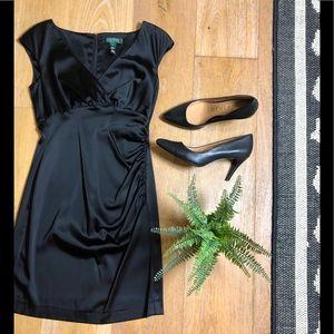 Ralph Lauren luxurious silky little black dress 4